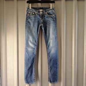 True Religion women's jeans size 24 skinny jean.
